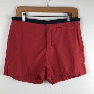 Royal Robbins Red Maroon Hiking Shorts Size 8